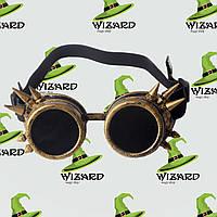 Очки Стимпанк гогглы с шипами золото