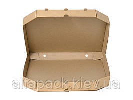 Коробка для пиццы бурая, 320х320х35 мм, упаковка 50 шт, (5,26 грн/шт)