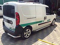 Боковые площадки Line (2 шт., алюминий) - Fiat Doblo I 2001-2005 гг.