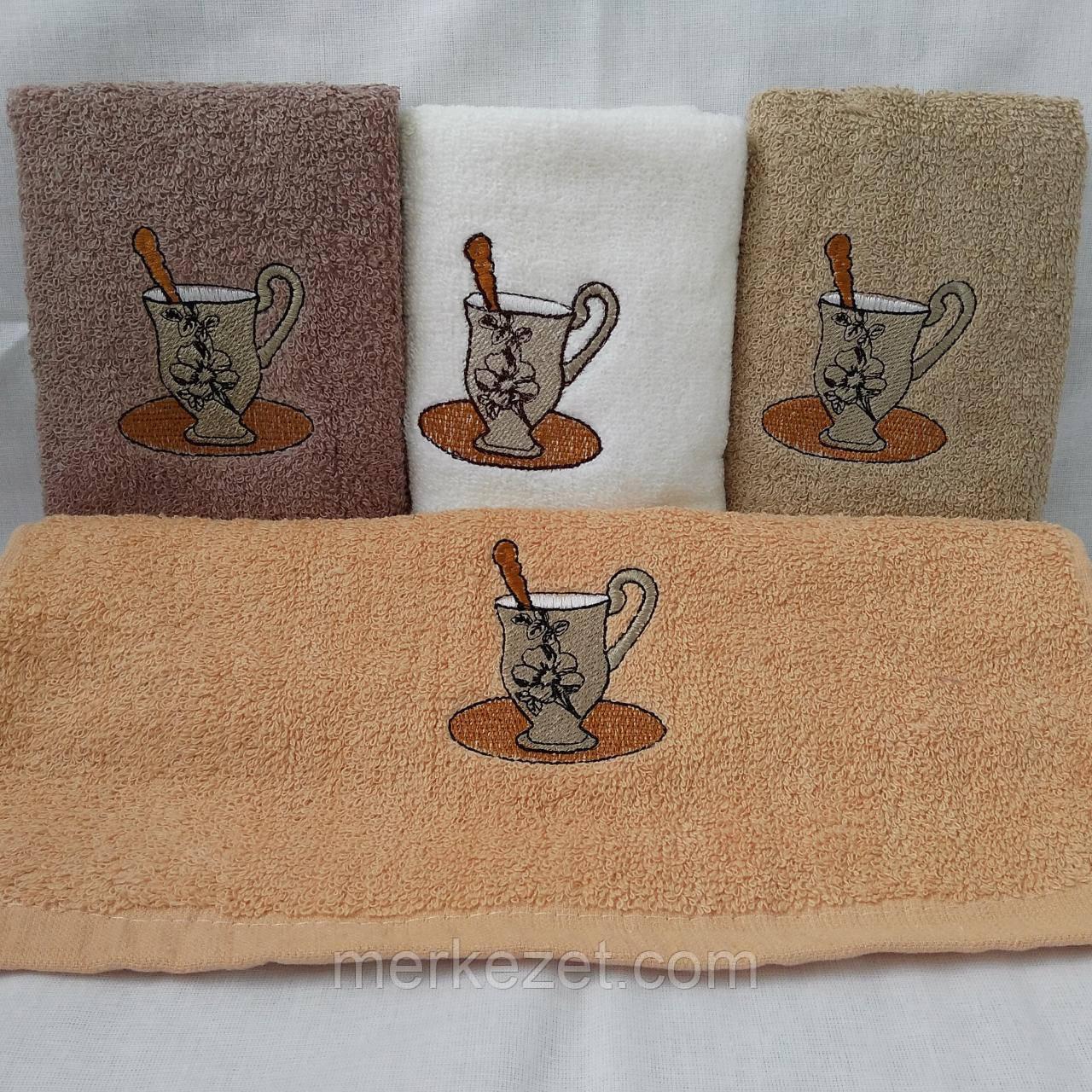 """Полотенце кухонное """"Капучино"""". Махровые полотенца. Кухонное махровое полотенце"""