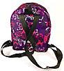 Рюкзак женский городской яркие принты фиолетовый бабочки, фото 3