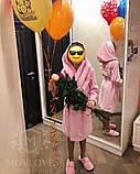 Дитячий махровий халат з іменною вишивкою, фото 6