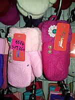 """Варежки """"Корона"""" 4-7 лет для девочек разные цвета 12 пар в упаковке, фото 1"""