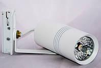 Светодиодный светильник трековый диммируемый SL-10 10W 3000K белый, фото 1