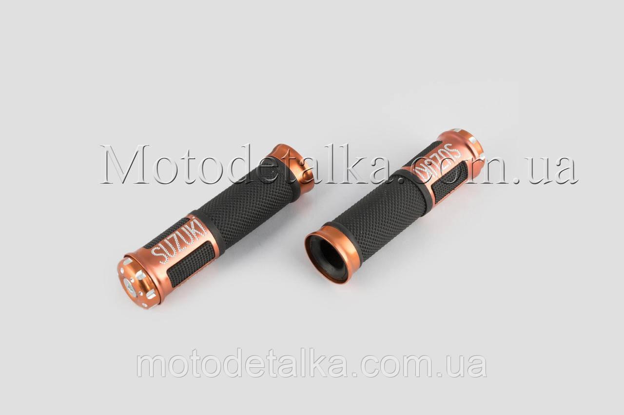 Ручки руля с алюм. отбойником (бронзовые) (mod:Suzuki) GJCT
