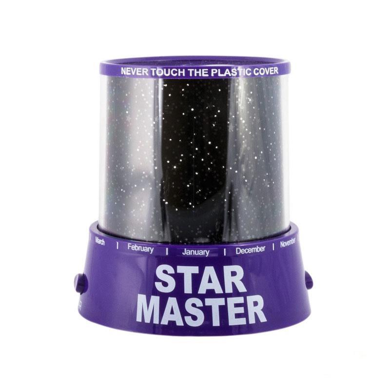 Ночник - проектор Star Master от USB (фиолетовый)