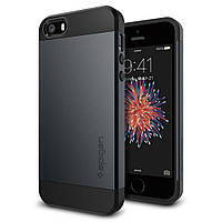 Чехол Spigen для iPhone SE/5S/5 Slim Armor, Metal Slate, фото 1