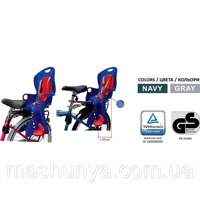 Велокресло Tilly Maxi T-831 до 22 кг ставится на раму или багажник