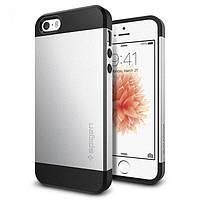 Чехол Spigen для iPhone SE/5S/5 Slim Armor, Satin Silver, фото 1