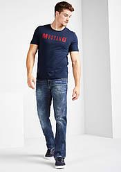 Джинсы мужские темно синие Oregon Straight от Mustang jeans в размере W32/L34