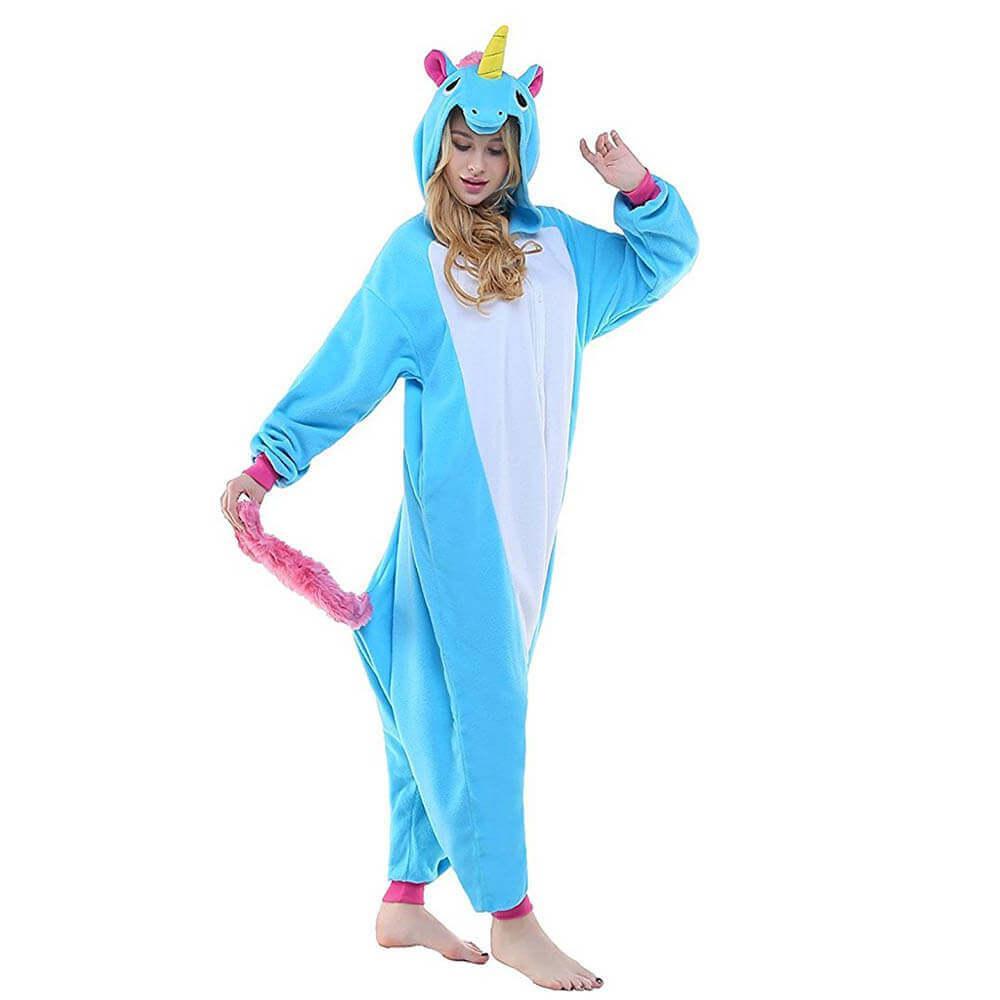 Теплая пижама Кигуруми Голубой Единорог 78f0ad76ead11