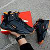 """Мужские зимние кроссовки Nike Air Huarache Acronym """"Black/Orange"""" (Найк) черные, фото 5"""