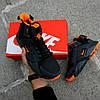 """Мужские зимние кроссовки Nike Air Huarache Acronym """"Black/Orange"""" (Найк) черные, фото 6"""