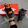 """Мужские зимние кроссовки Nike Air Huarache Acronym """"Black/Orange"""" (Найк) черные, фото 7"""