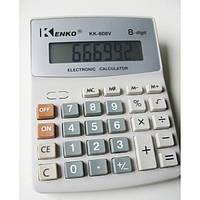 Калькулятор с высокими клавишами Kenko KK-808V, ЖК-дисплей на 8 разрядов, память значений, смена знака