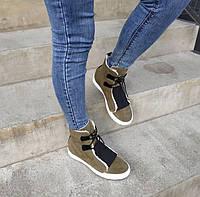 Ботинки женские хаки Феде Литма