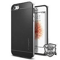 Чехол Spigen для iPhone SE/5S/5 Neo Hybrid, Satin Silver, фото 1