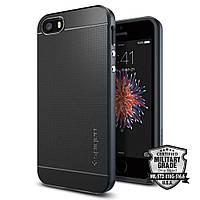 Чехол Spigen для iPhone SE/5S/5 Neo Hybrid, Metal Slate, фото 1