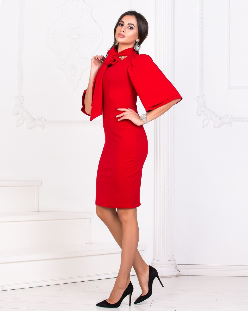 7f71ad5ab6e Элегантное женское платье с бантом.(2расцв) - Интернет-магазин
