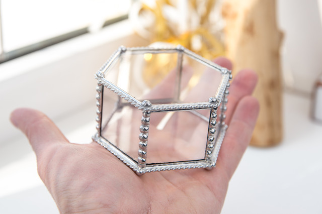 Шкатулка Тиффани из стекла
