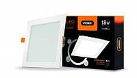 LED светильник VIDEX 18W 5000K потолочный с регулировкой яркости Встраиваемый  220V D3