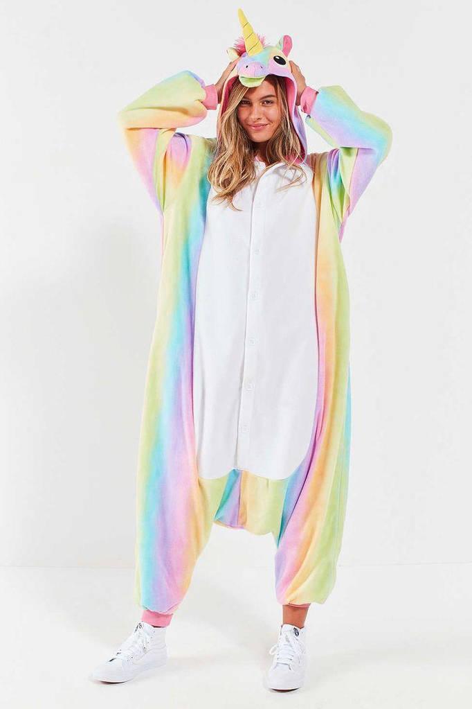 Купить Теплая пижама Кигуруми Радужный Единорог 6661eaa5ab146