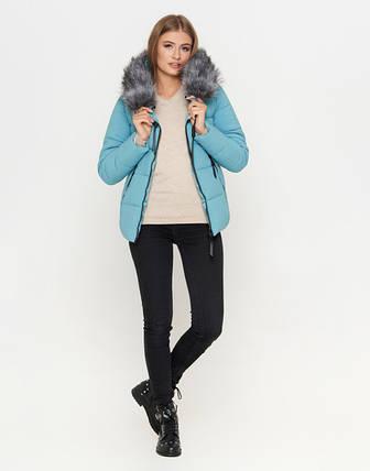 11 Kiro Tokao   Зимняя женская куртка 6529 голубая, фото 2