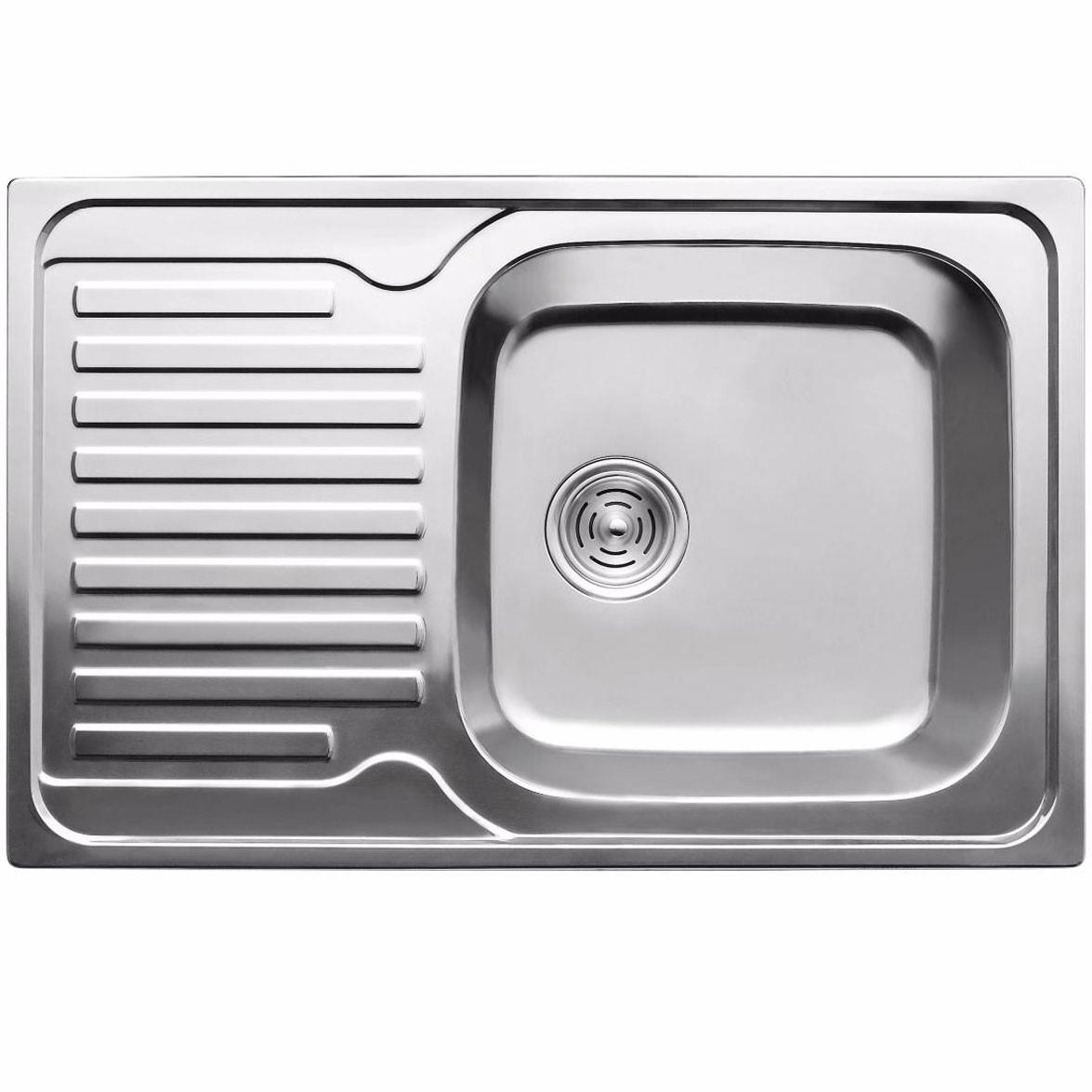 Кухонная мойка из нержавеющей стали ULA 7203 ZS polish