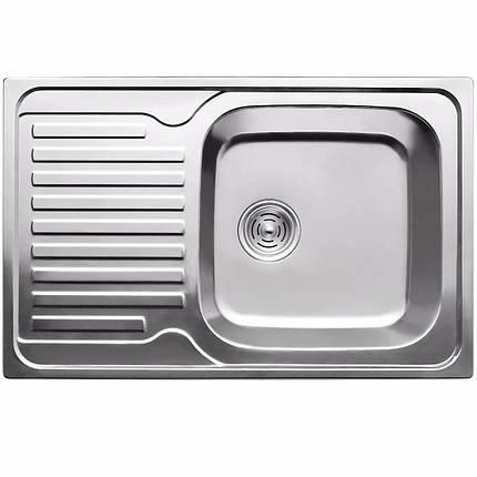 Кухонная мойка из нержавеющей стали ULA 7203 ZS polish, фото 2