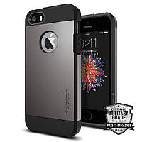 Чехол Spigen для iPhone SE/5S/5 Tough Armor, Gunmetal, фото 1
