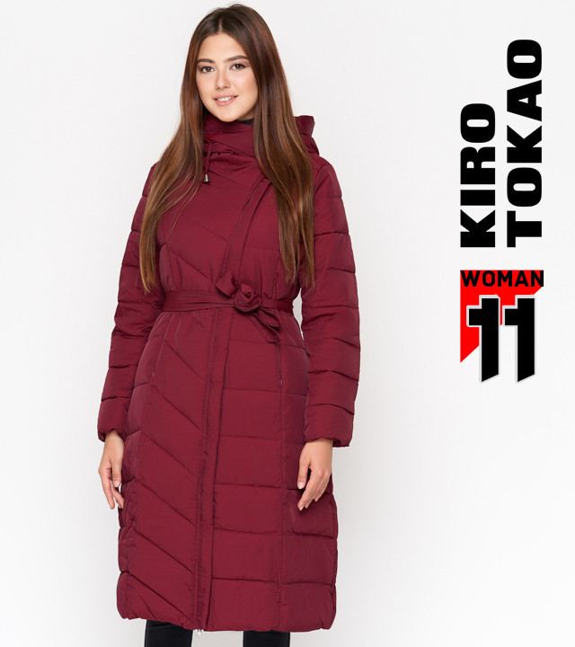 11 Kiro Tokao   Женская зимняя куртка DR23 бордовая