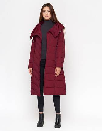 11 Kiro Tokao   Женская зимняя куртка DR23 бордовая, фото 2