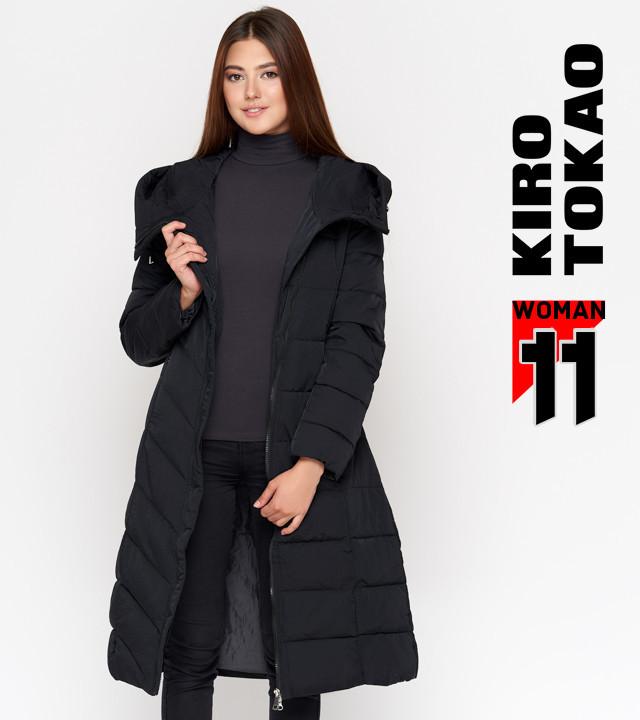 11 Киро Токао   Женская куртка на зиму DR23 черная