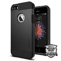 Чехол Spigen для iPhone SE/5S/5  Tough Armor, Black , фото 1