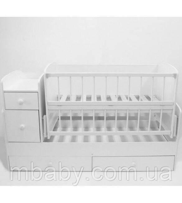 Детская кроватка трансформер  №1 (белый)