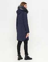 11 Киро Токао | Куртка женская на зиму двусторонняя 8107 синяя, фото 3