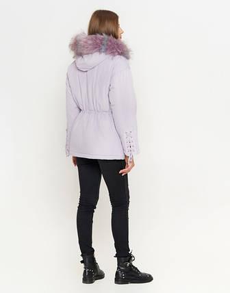 11 Киро Токао   Куртка женская на зиму 8812 светло-фиолетовая, фото 2