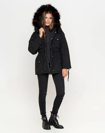 11 Kiro Tokao | Женская зимняя куртка 8812 черная, фото 2
