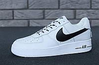 Кроссовки мужские белые кожаные осенние модные Nike Air Force 1 Low NBA Найк Аир Форс