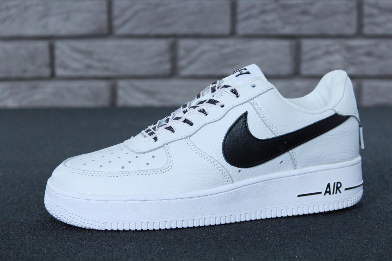 d54ae7c9 Кроссовки мужские белые кожаные осенние модные Nike Air Force 1 Low NBA  Найк Аир Форс -