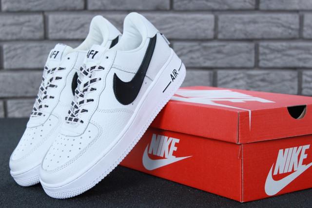 4975e08a Кроссовки мужские белые кожаные осенние модные Nike Air Force 1 Low NBA  Найк Аир Форс