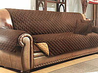 Накидка на диван с подлокотниками серый 180/145 ТЕП