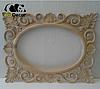 Зеркало настенное Valencia в раме белой с золотом, фото 7