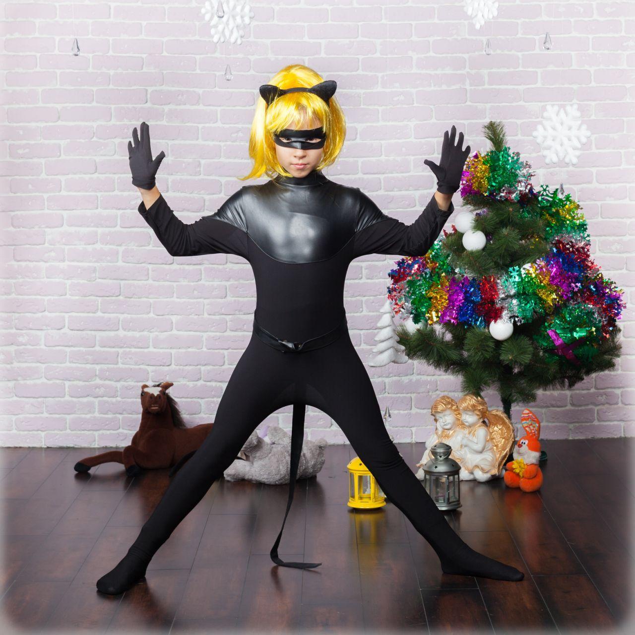 Новогодний костюм мультгероя для мальчика Суперкот 104-116 р, новогодние детские костюмы от производителя