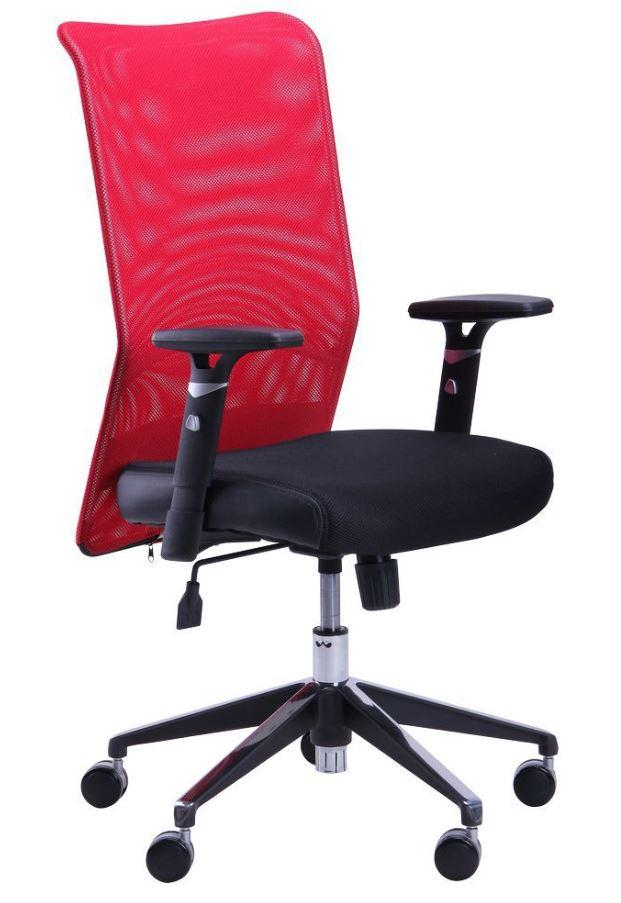 Кресло Аэро Люкс сиденье Сетка черная, Неаполь 20 / спинка Сетка красная