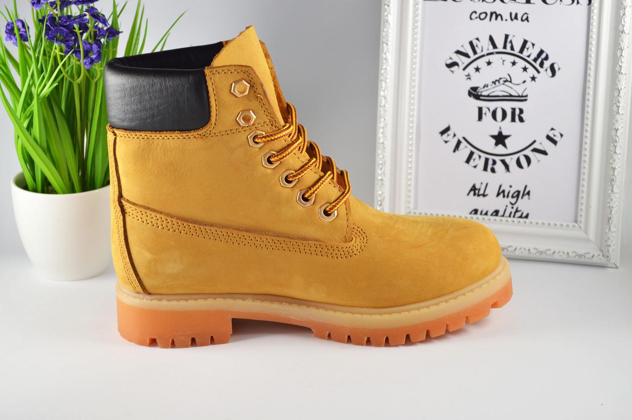8d4cd7c1 Купить Женские ботинки Timberland кожаные Тимберленд желтые, бежевые ...