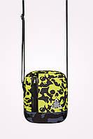 Мессенджер сумка через плечо M5 SMOKY SKOOL LIME черепа Urban Planet (сумка женская, сумка мужская, сумки)