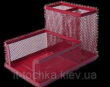 Металлический настольный прибор подставка buromax bm.6242-05 красная