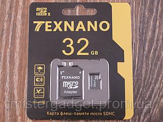 Карта памяти 32Gb MicroSD TEXNANO 10 класс