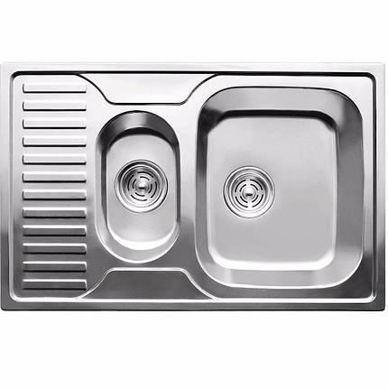 Кухонная мойка из нержавеющей стали ULA 7301 ZS satin, фото 2